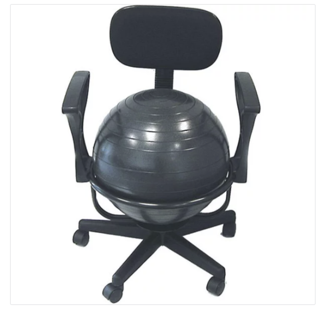 Cando Metal Ball Office Chair Fitness Core Balance Massage Ergonomic  Computer