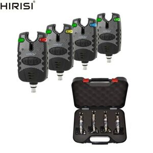 Hirisi Tackle Carp Fishing Bite Alarms 3-pcs with Free Swingers Indicator