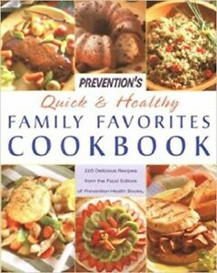 NEW Prevention's Quick and Healthy Family Favorites Cookbook HC w Dust Jacket