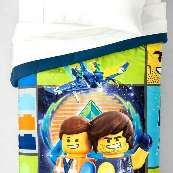 """The Lego Movie 2 Sheet Set ~ NEW Full Size 4 Pieces /""""Galactic Duo/"""" Gray Soft"""