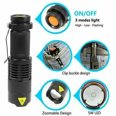 Super Bright 5000LM CREE Q5 AA//14500 3 Modes StrapZOOMABLE LED Flashlight Torch
