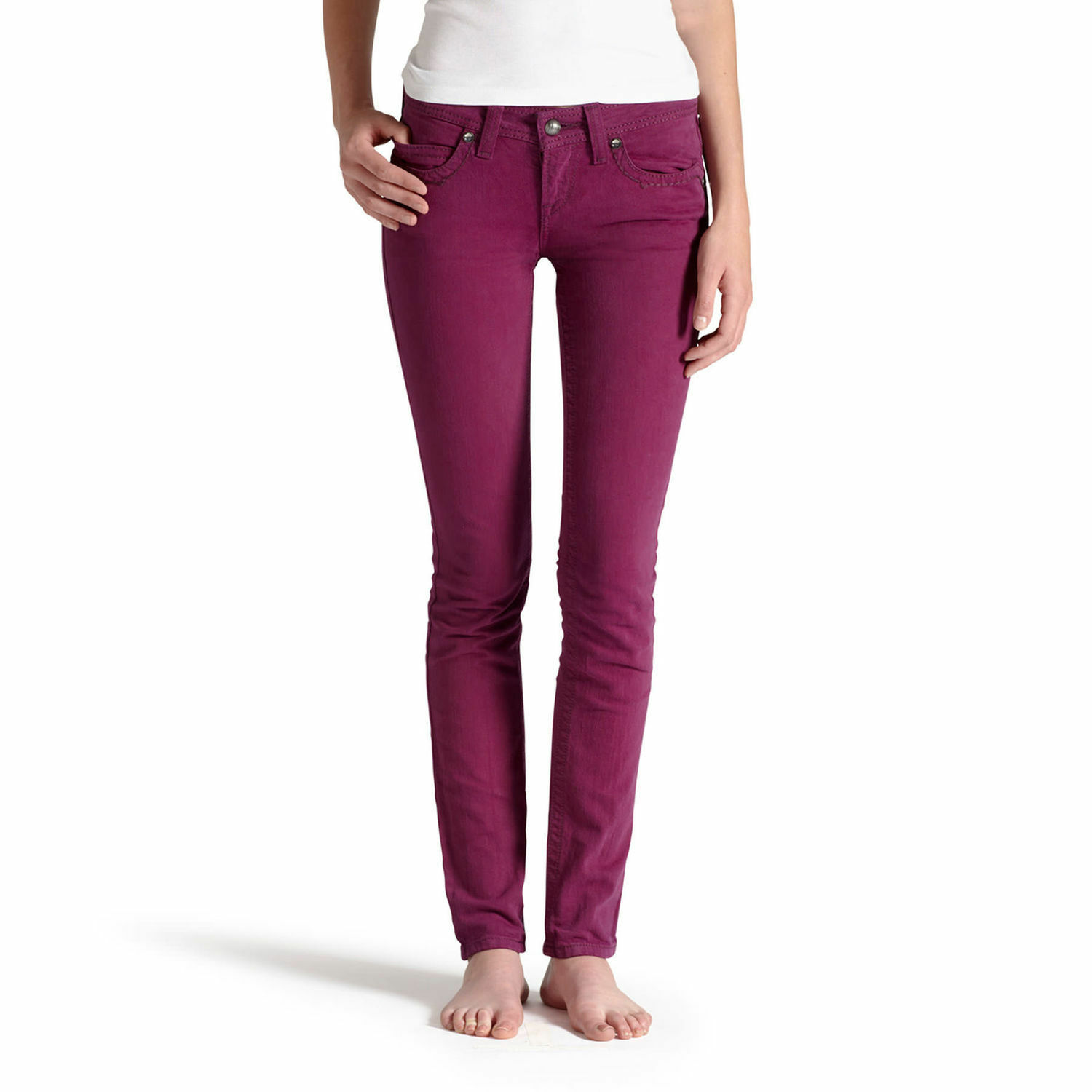 NWT Ariat Women's Onyx Low RIse Stretch Skinny Jeans Fuchsia purple Pants 26R 4