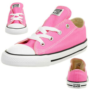Details about Converse Inf Ctas Ox Chucks Children's Sneakers Kids Canvas Pink 7J238C