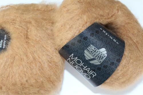 Lana creativo lana Grossa-mohair Nuovo-FB 7 Camel 25 G