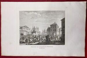 Massacre-Montauban-1790-Revolution-Francaise-Rare-Gravure-Tarn-et-Garonne