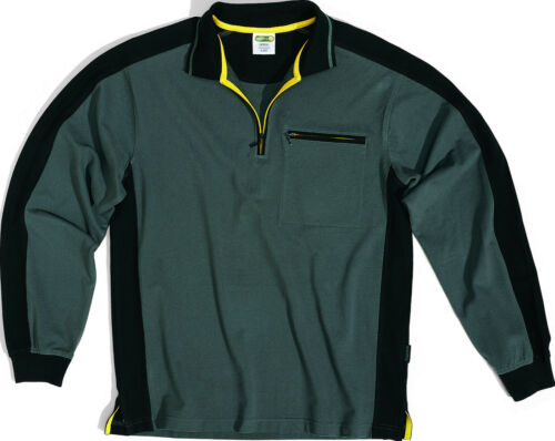 Delta Plus Panoply M5POL Mach Spirit Mens Grey Long Sleeve Polo Sweater Jumper