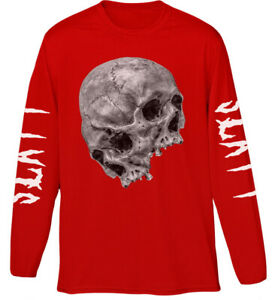 Young-Thug-039-Thugger-Skull-2017-Tour-039-Red-Long-Sleeve-Shirt-NEW-amp-OFFICIAL