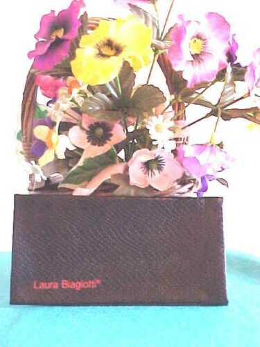 LAURA BIAGIOTTI Eyewear Sunglasses Eyeglasses CASE BLACK FauxLizardSkin