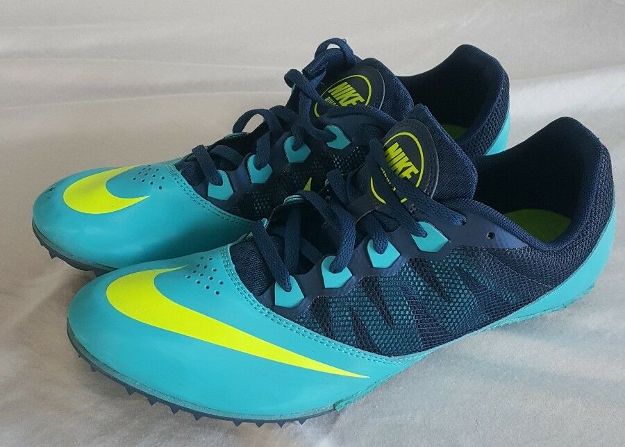 NIKE Rival S Track Field Running Shoes Sprint Blue Navy Yellow US 11 Mens  The most popular shoes for men and women