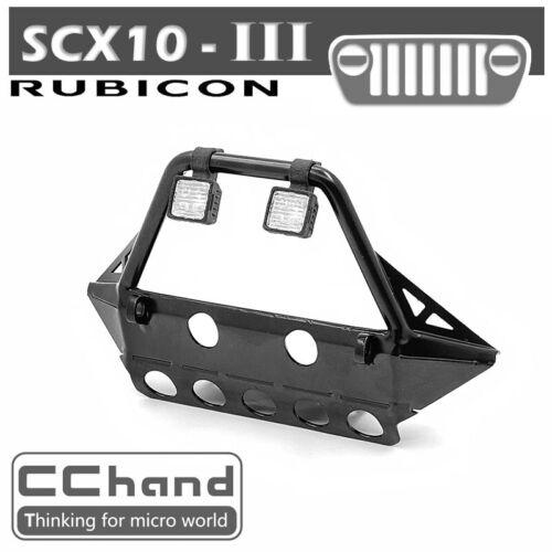 Tube metal front bumper crashproof for AXIAL SCX10 III rc car part