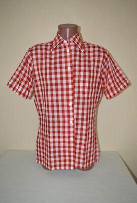 Groß Kariertes Original 80er Hemd Von Garry Duncan Zur Lederhose, Gr.m 48 50