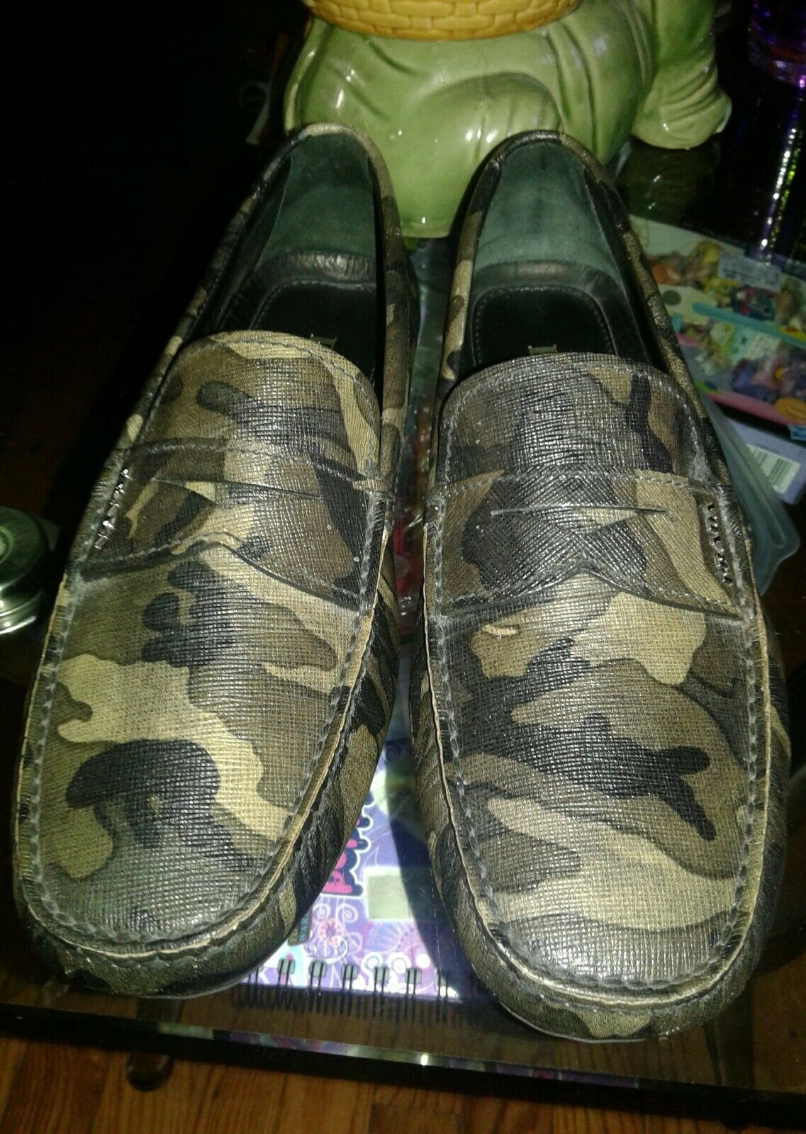 MEN'S PRADA Shoes Camo Loafers. Sz prada 7.5 USA 8.5