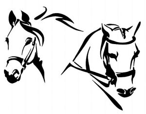 STENCILS-CRAFTS-TEMPLATES-SCRAPBOOKING-HORSE-HEADS-STENCIL-186-A4-MYLAR