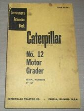 Cat Caterpillar No 12 12e Motor Grader Service Shop Repair Manual Sn 8t00001 Up