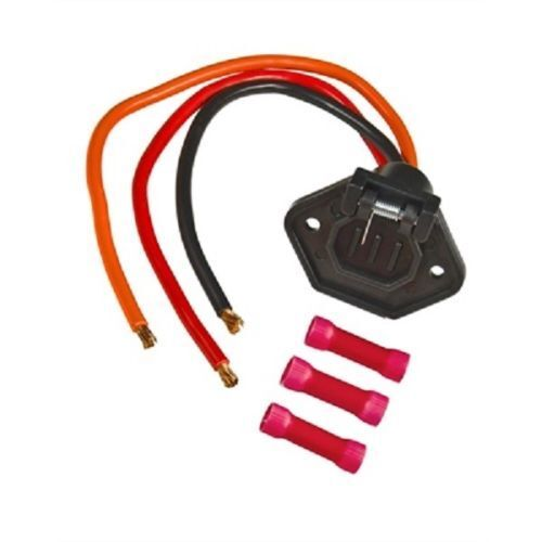 Trolling Motor Male Socket Boat Side Connector 24V 3 Wire 8 Gauge