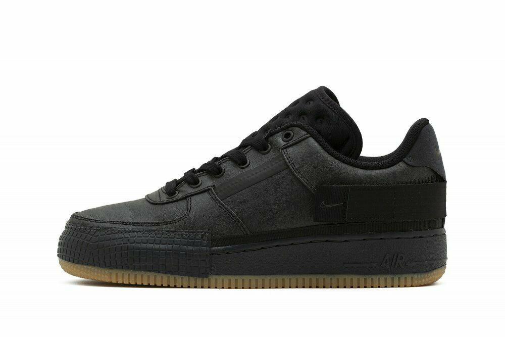 Size 12.5 - Nike Air Force 1 Type Black Gum 2020 for sale online ...