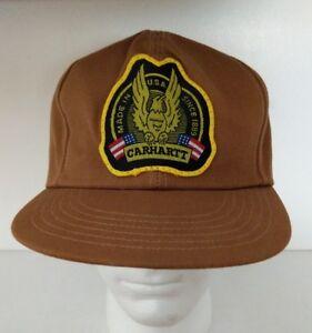 5bfa62f9a39aa Carhartt Baseball Hat Cap Snapback Made in USA 1889 VTG 70s Canvas ...
