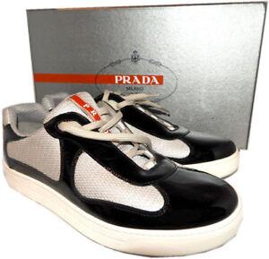 PRADA Men's Sneakers Patent Leather