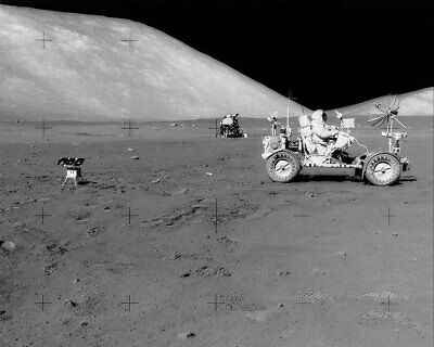 Historical Memorabilia Strict Apollo 17 Eugene Cernan Driving Lunar Rover 11x14 Silver Halide Photo Print Bracing Up The Whole System And Strengthening It