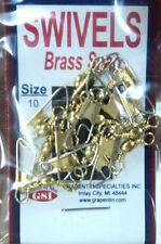 Brass Snap Swivels, Size 10, Lot of 12 Packs, Total of 144 Swivels #BSS-10