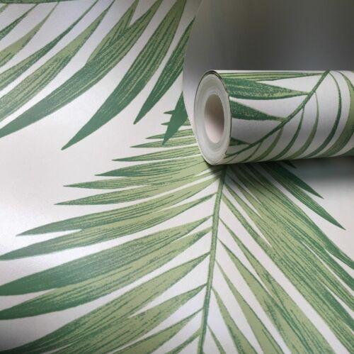 ARTHOUSE TROPICAL PALM TREE GREEN LEAVES JUNGLE WALLPAPER 906802
