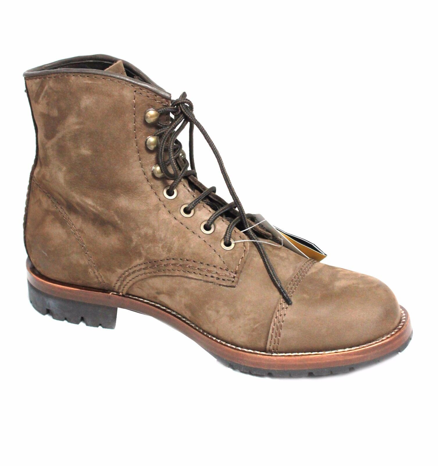 KJORE PROJECT stivaletto uomo  nabuk 100% MORO mod BROWN BOOT 100% nabuk pelle MADE IN ITA 6ef46d