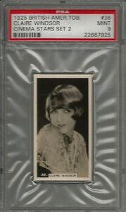 1925 BAT B.A.T. #36 Claire Windsor Cinema Stars Set 2 PSA 9 MINT Card POP 1