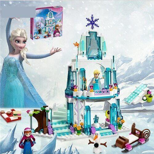 Snow Queen Princess Elsa Anna Magical Ice Castle Building Blocks Birthday Gift