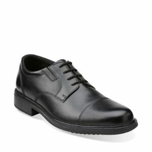 Details about NEW MENS CLARKS BOSTONIAN FLEXLITE BARDWELL LIMIT BLACK LEATHER WIDE WIDTH SHOES