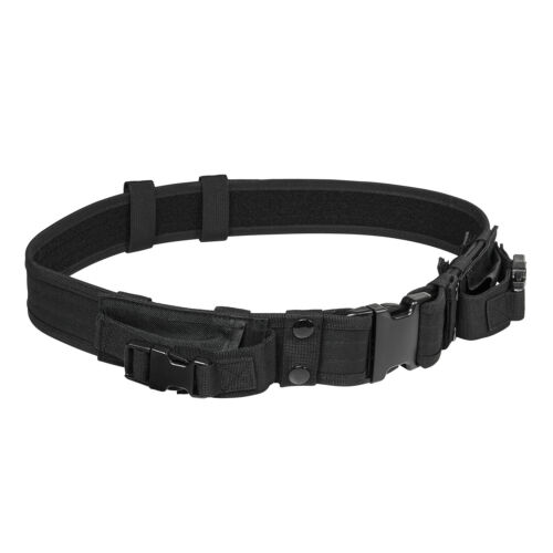 Tactical 2 inch Adjustable Duty Gun Belt w 2 Magazine Pouches SWAT BLACK NEW