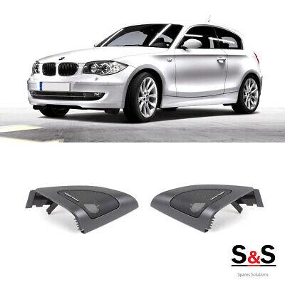 Genuino Nuevo BMW E81 E82 E88 cubierta de Tweeter de altavoz de la puerta delantera par de Harman Kardon