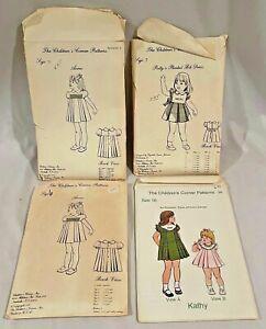Vintage 1980 The Children's Corner Patterns LOT of 4 Anne Patty Kathy 6 7 10 🦋