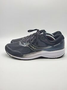 Saucony-Mens-Omni-ISO-2-S20511-2-Black-Gray-Running-Shoes-Lace-Up-Size-10
