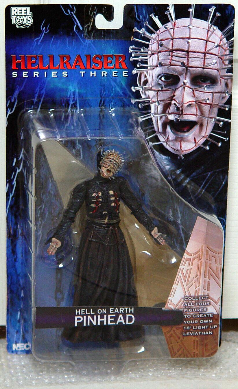 NECA Cult Classics Hellraiser Pinhead infierno sobre la tierra CENOBITE Figura Sellada 2004