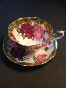 AS-IS-cracked-Royal-Albert-Treasure-Chest-Series-Tea-Cup-And-Saucer-Replacement
