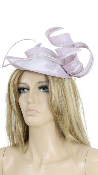 John Charles 26416 H49 Lilac Mother Of the Bride Fascinator Wedding Formal Hat