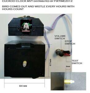 New Quartz Clock Battery Movement Mechanism Cuckoo Clock