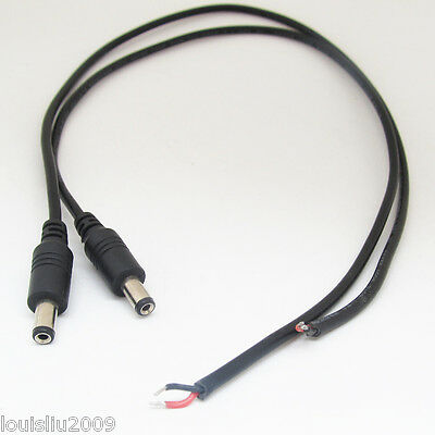 10pcs 25cm 18AWG Copper DC Power Cable Pigtail 5.5x2.5mm DC Female For CCTV