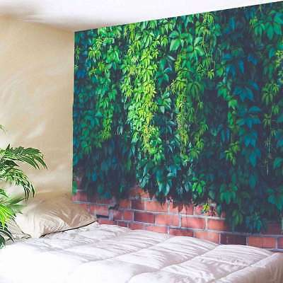 Nature Green Plant Print Tapestry Wall Hanging Bedspread Home Art Decor Tapestry