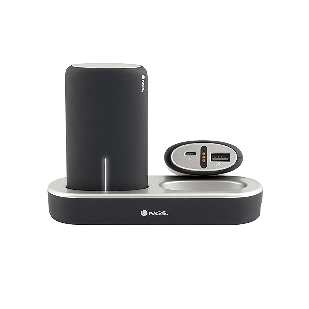 NGS Twinpeaks Pack of 2x Powerbanks with Charging Station