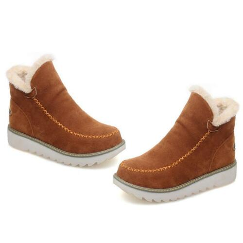 Women Winter Snow Ankle Boots Hidden Wedge Heels Platform Casual Shoes LC