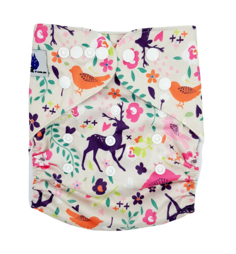 Reusable Modern Cloth Nappies /& Insert One Size Fits All Purple Deer