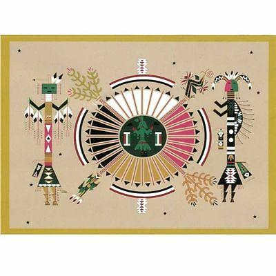 Native Writing Kachina 1 Pueblo Spirit southwestern 50x60 Fleece Throw Blanket