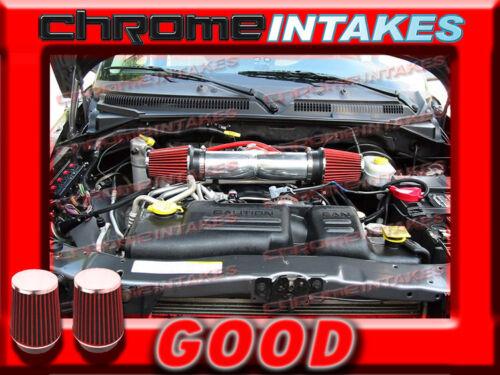 RED NEW DUAL 04 05 06 07 08 09 10-12 JEEP LIBERTY 3.7L V6 TWIN AIR INTAKE KIT