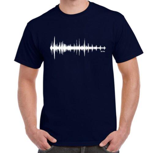 Wavelength Mens Funny printed Tshirts  tops novelty joke birthday gift