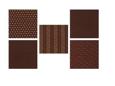 5 by Jo Morton for Moda Spice it Up Dark Brown FQ Bundle
