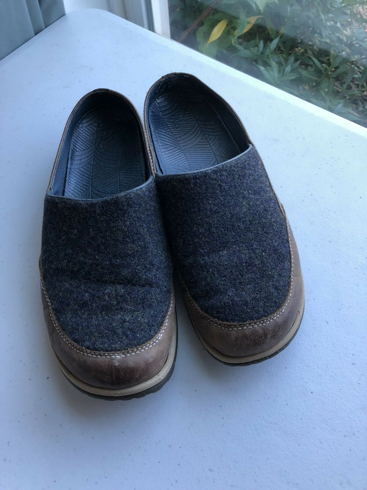 CHACO QUINN SLIP ON chaussures WOOL LEATHER femmes 7 RTL  110