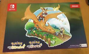 Pokemon-Nintendo-Switch-LET-039-S-GO-PIKACHU-EEVEE-Holographic-poster-11x17