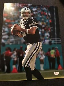 Image is loading Dallas-Cowboys-Tony-Romo-Autographed-Signed-11x14-Photo- 9222aaf1d