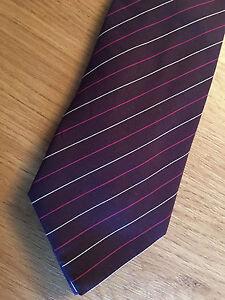 pacchetto elegante e robusto in vendita online selezione premium Details about Paul Smith Damson Tie MULTISTRIPE damson Silver & Pink Made  in Italy 9cm Blade